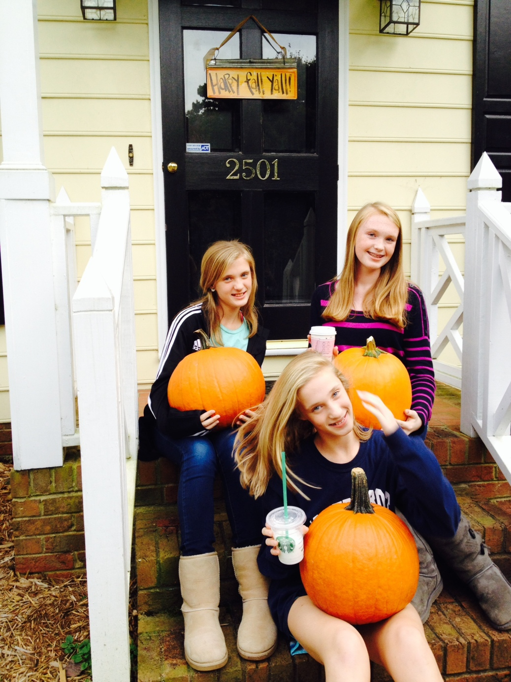 3 adorable punkins - and 3 perfect pumpkins.